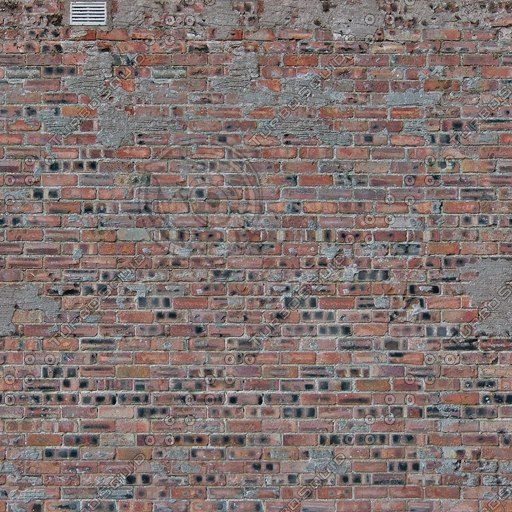 W354 old red brick wall texture
