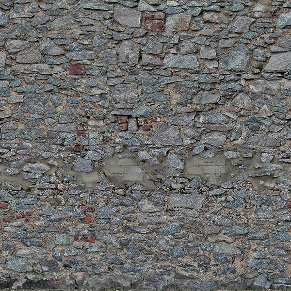 W102 stacked stone wall texture