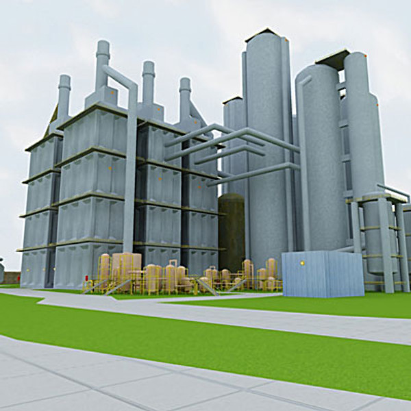 industrial complex 3d model - Factory complex II... by QLEE