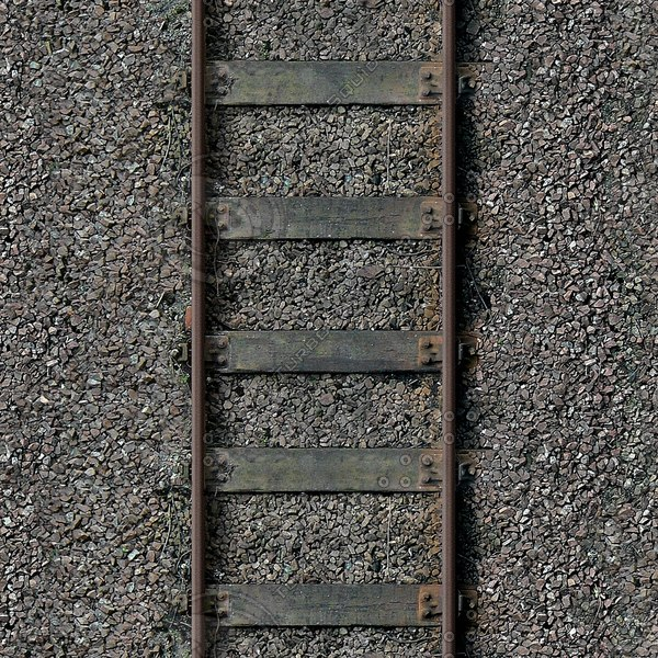 G087 railway tracks wooden sleepers 1024