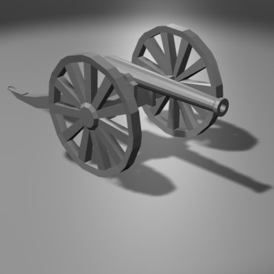 free civil war cannon 3d model