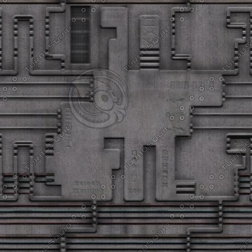 SF010 metal spaceship wall texture