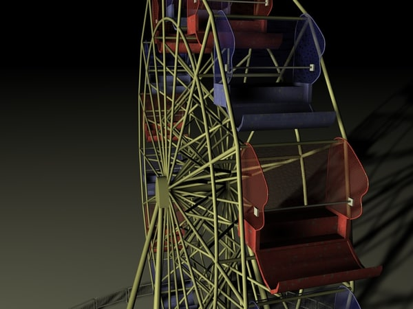ferris wheel 3d model - Ferris Wheel... by Etwin