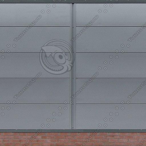 W293 metal warehouse wall texture