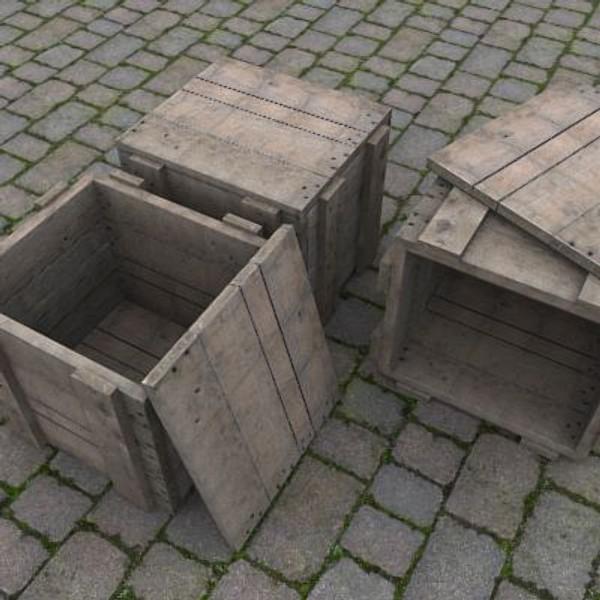 3dsmax crate box