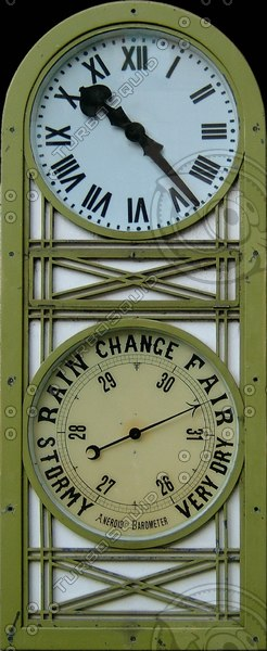 Wall Barometer Clock Face Texture