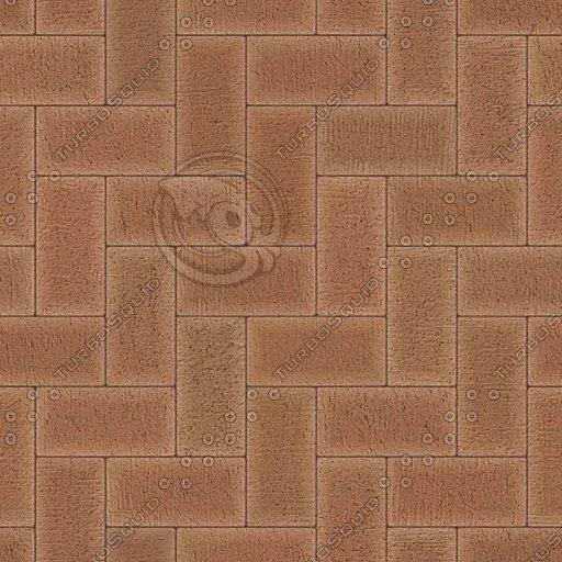 G064 paving bricks brown texture