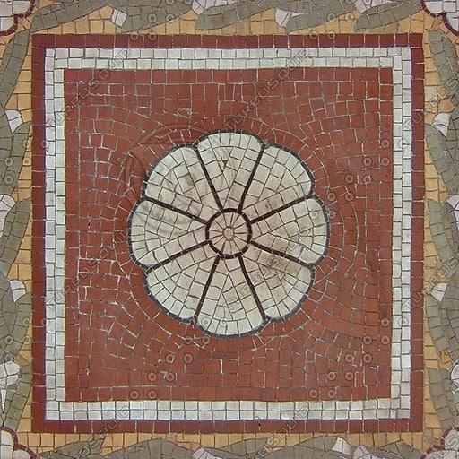 FL011 mosaic tiles roman floor texture
