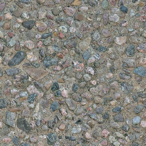 G075 concrete wall raised stony aggregate texture