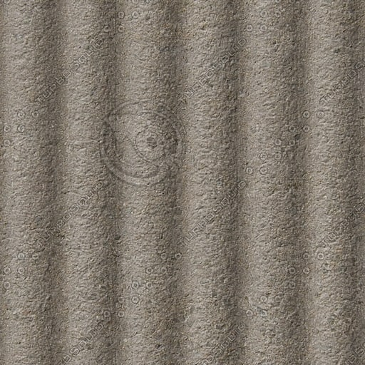 C091 corrugated concrete wall