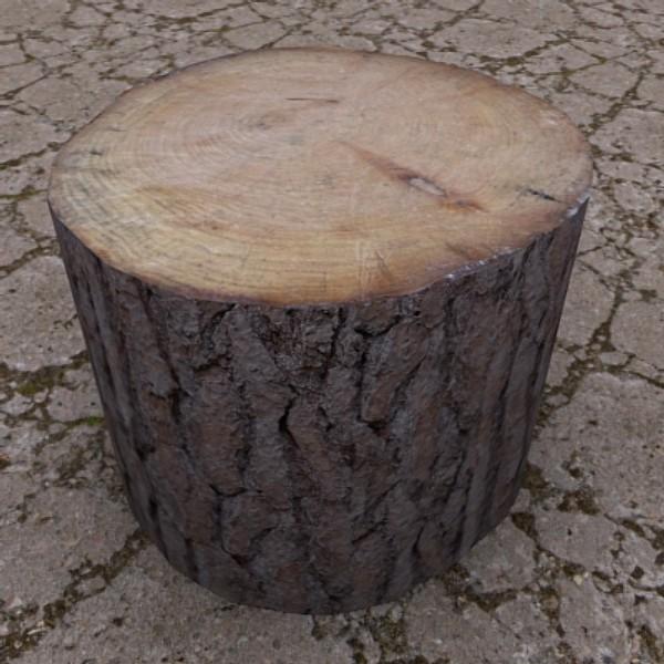 3d model cut log