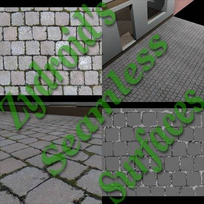 SRF cobblestones concrete paving