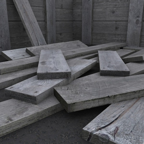 timber planks wooden crates 3d 3ds