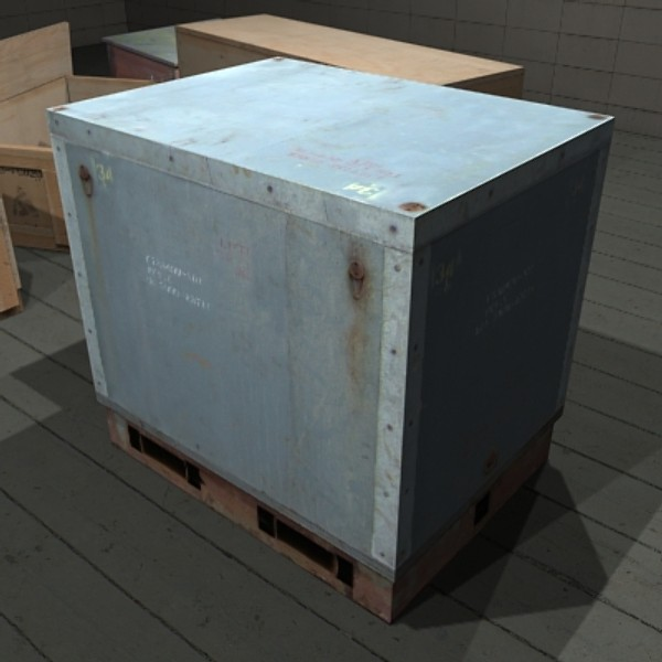 3ds industrial packing crate