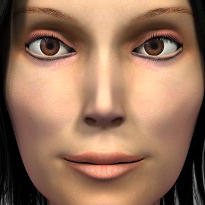 realistic female woman 3d model