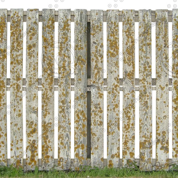 F026 wooden fence white