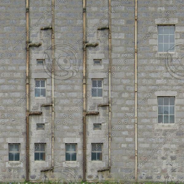 BF102 derelict building facade texture