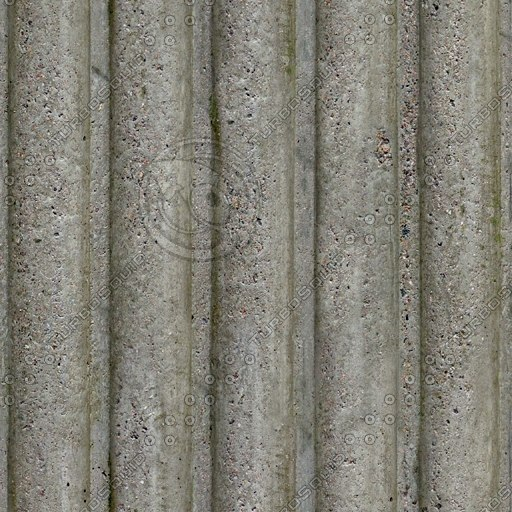 C022 corrugated concrete grooved wall