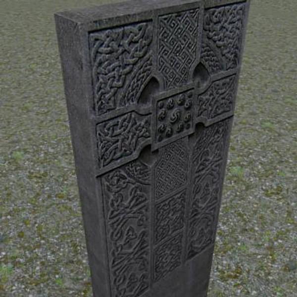 3ds max gravestone celtic cross