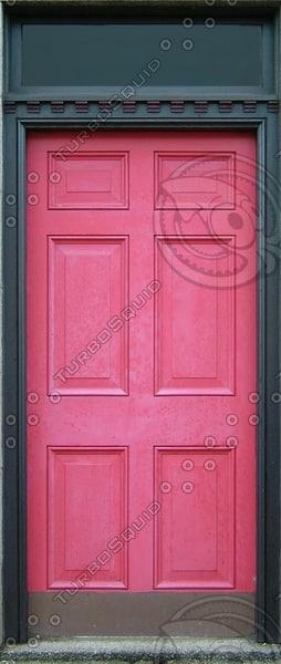 D161 beveled red door texture