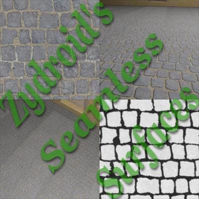 SRF concrete sidewalk paving stones