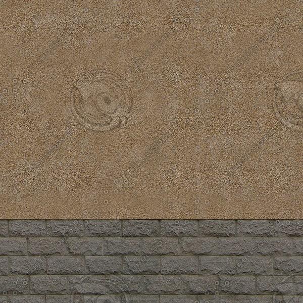 W138 stucco brick wall