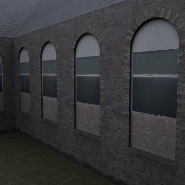 tileable arched window 3d 3ds