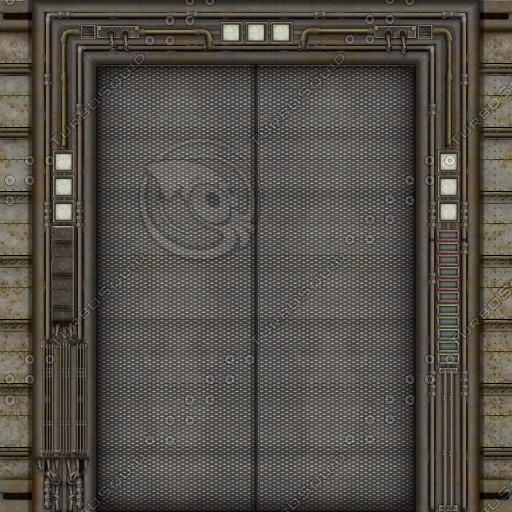 SF038 sci-fi door elevator doors
