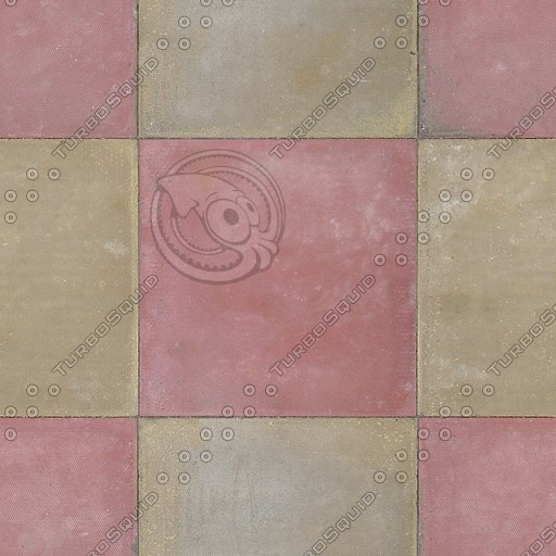 G212 paving slabs colored