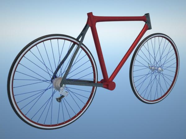 road bike rim 3d max