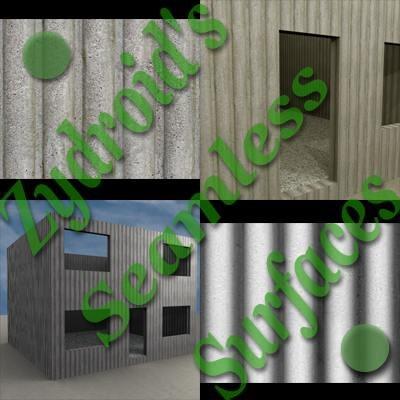 SRF corrugated concrete wall texture