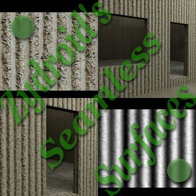 SRF Precast concrete wall texture bump map