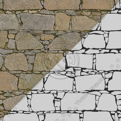 SW019 brown stacked stone wall