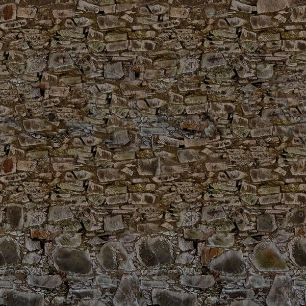 W271 stacked stone wall blocks texture