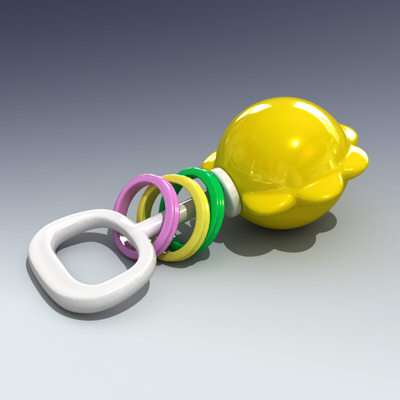 3d baby rattle model - Rattle... by Adam Walker Film
