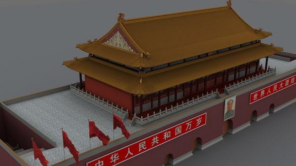 tiananmen gate 3d model