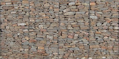 W424 gabion wall texture