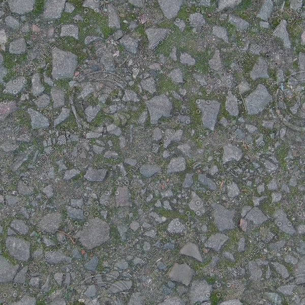 G373 cobbled path track texture