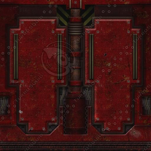 SF053 sci-fi metal wall texture