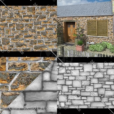 SRF stone blocks ashlar wall