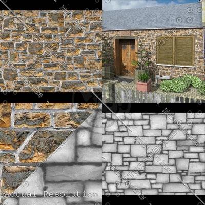 SRF stone blocks ashlar wall