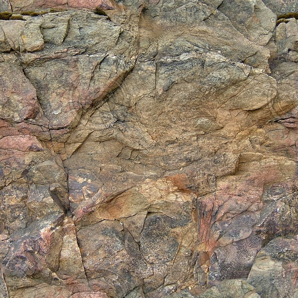 RS098 brown rock stone