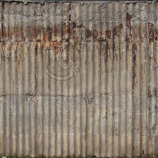 W361 corrugated concrete wall texture
