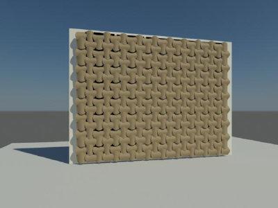 wovin wall 3d max