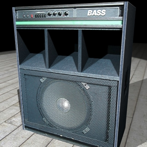 3ds max bass guitar amplifier combo