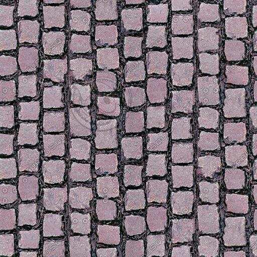 G077 red cobblestones cobbles texture