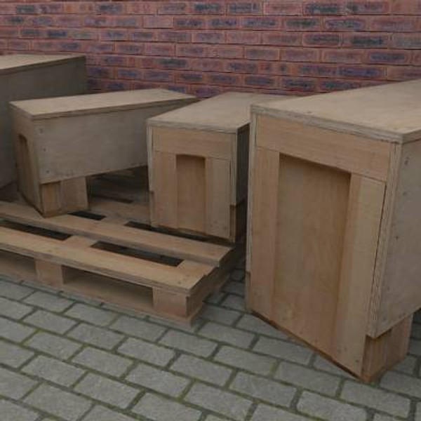 packing crates wooden pallet 3ds