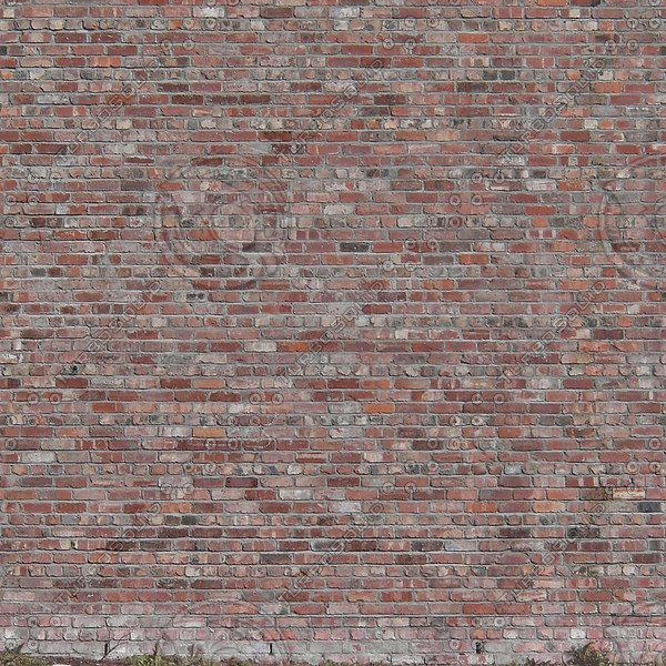 W045 red brick wall texture