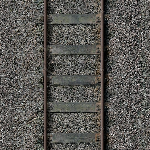G087 railway train tracks texture 512