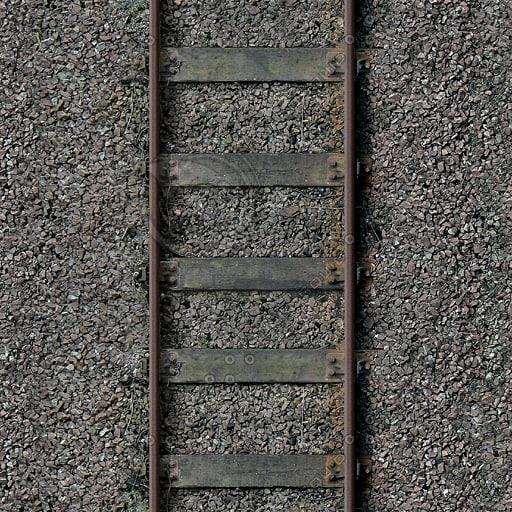 G087 railway train tracks texture 512